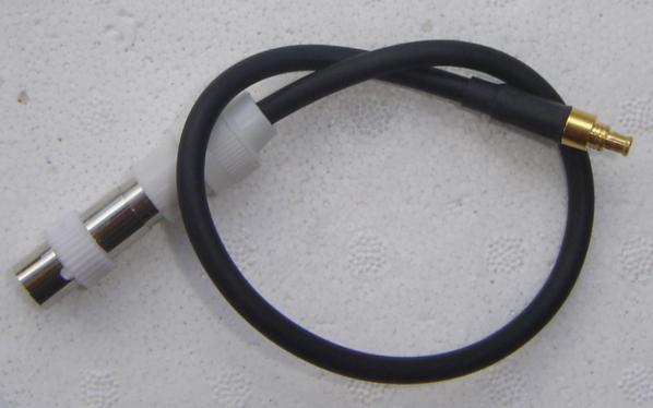 MCX Plug to Belling-Lee Plug (TV Plug) MCX30BL-0