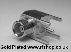 MCX8400-9000, MCX connector, fem pin, PCB fitting, Right Angle-0