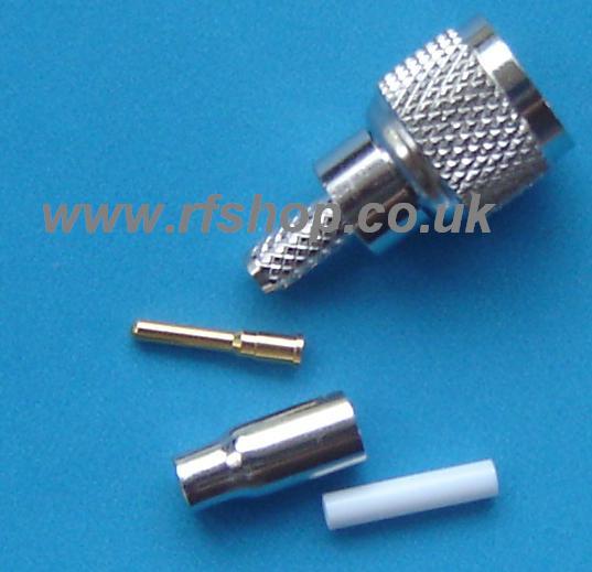 Mini UHF Plug (Male pin) suit RG316, RG174 MUP-316-0