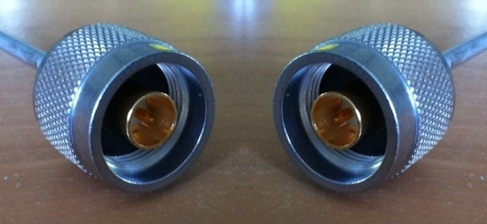 "N Plug to N Plug, Tinned 0.141"" Semi Rigid, 0.5m N30N30-141T-50cm-0"