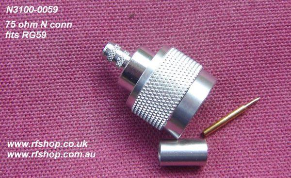 JyeBao N Plug (Male pin), 75 ohm, suit RG59-0