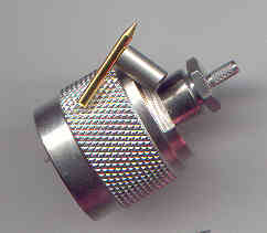 N3100-0316, N connector male pin, RG316-0
