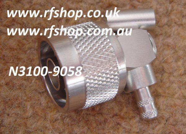 N Plug, male, LMR195, RG58, LMR200 Crimp, RA, CH-NP-58-RA-0