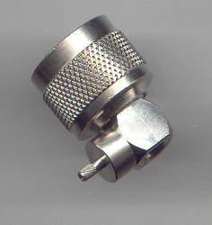N3100-9058, N connector male pin, RG58, RA-0