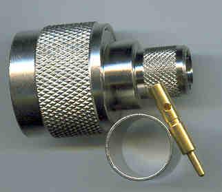 JyeBao N Plug (Male pin) suit LMR400, RG213, RG214, TC-400-NM equiv (N3100-L400) N3100-L400-0