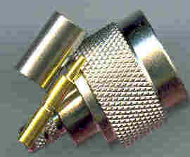 JyeBao N Plug (Male pin) suit RG6, 75 ohm N3100-0006-0