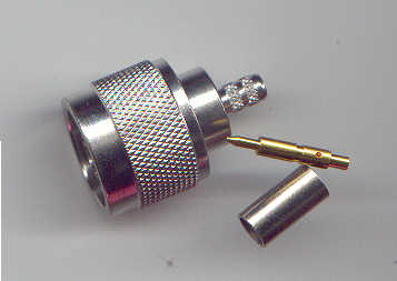 N3100-L200, N connector male pin, 200-0