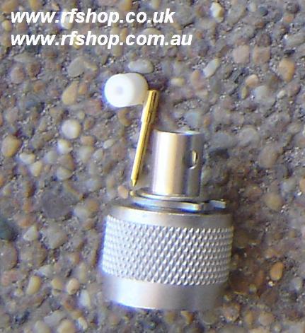 "N connector, male pin, 1/4"", 0.250"" semi-rigid, RG141, solder N3300-0250-0"