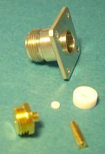 "N connector, fem pin, panel mount, RG405, 0.085"", solder N8346-0085-0"