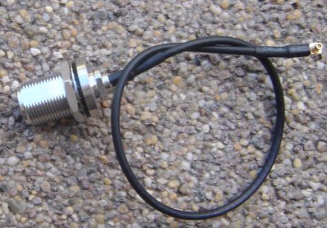 N Bulkhead Jack to Right Angle MMCX Plug, RG316, 200mm N85MMCX39-316-200-0