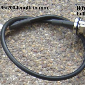 N85T60-195/200-700, RP-TNC (female pin), N female pin(BH), 195/CDR200 Cable, Loss at 2.45 GHz < 0.7dB, Length = 700mm-0