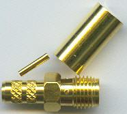 SMA8100-L240, SMA Connector, fem pin RP-N, 240, crimp-0