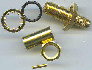 SMA8105-0058, SMA Connector, RG58, conventional fem pin, panel mount-0