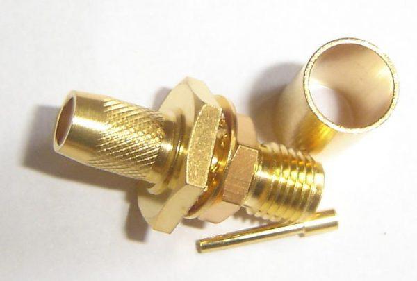 SMA8105-L240, SMA Connector, fem pin, panel mount, 240, crimp-0