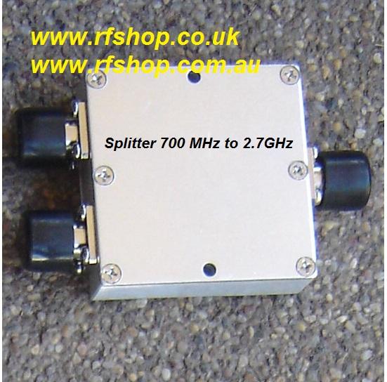 SP-0727-01, 700MHz to 2.7 GHz 2 way Splitter, N(f) conns-0