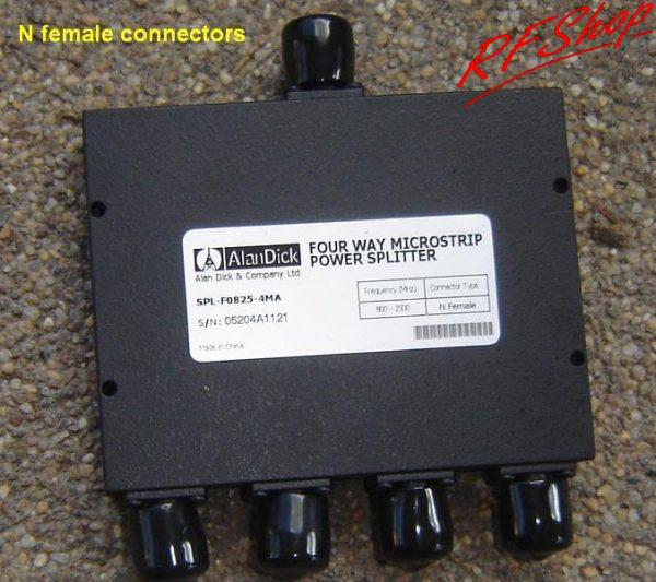 Splitter, 0.8 - 2.5GHz, N Female Connectors, 4 way SPL-FO825-4MA-0