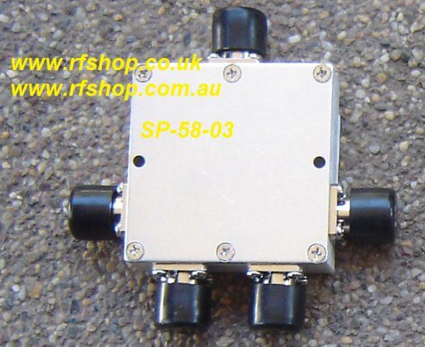SP-58-03, 5-6 GHz 4 way Splitter, N(f) conns-0