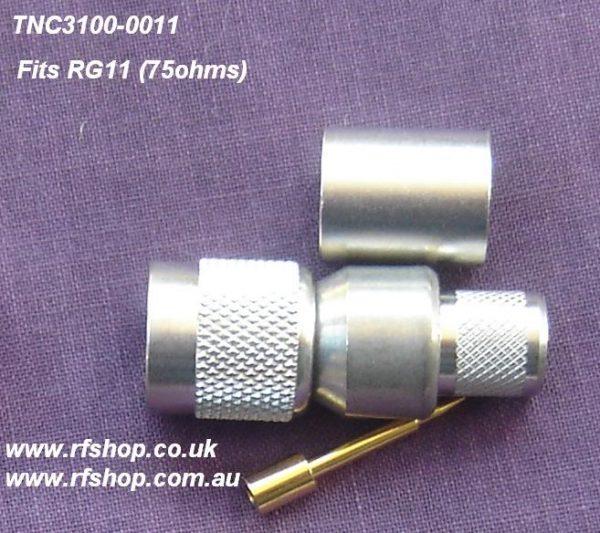 TNC connector, male pin, RG11, crimp-0