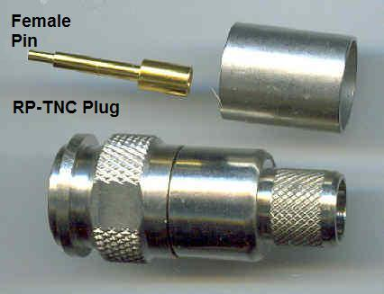 TNC6100-L400, RP-TNC Plug (fem pin), LR400, crimp-0