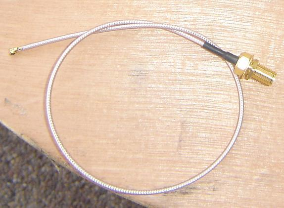 UFLA30-178-300, UFL,SMA male pin, RG178 Cable, Length = 300mm-0