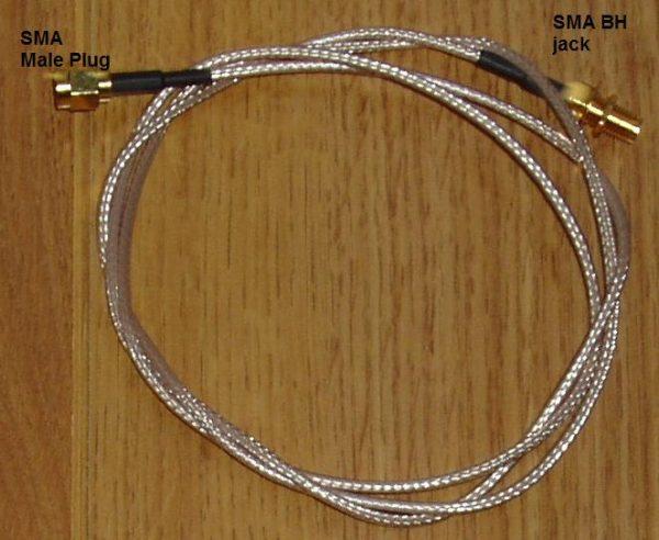 SMA Plug to Bulkhead SMA Jack, RG316, 500mm A30A85-316-500-0