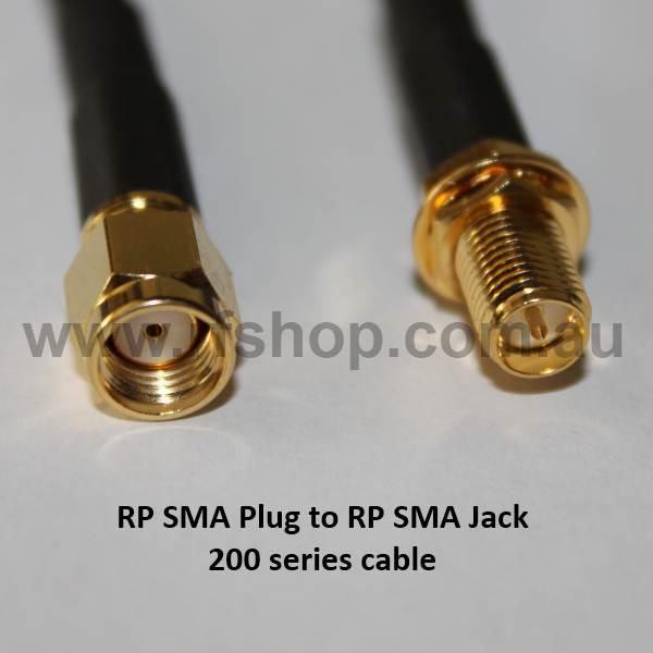 RP SMA Extension Lead, 1m (ACC-10314-01 equivalent) A60A95-200-1000-0