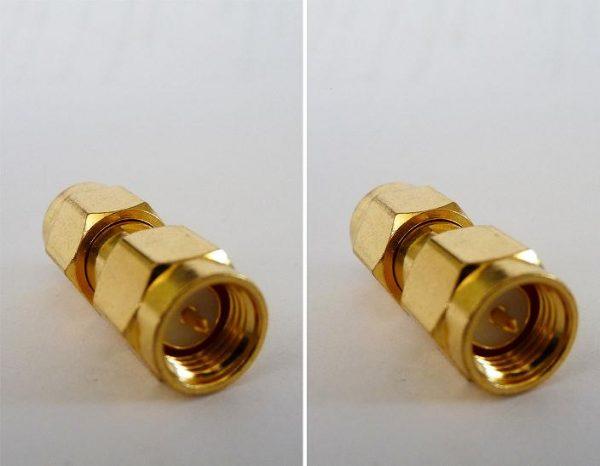 AD-A3A6, SMA (conv) male pin - RP-SMA Plug (fem pin)-0
