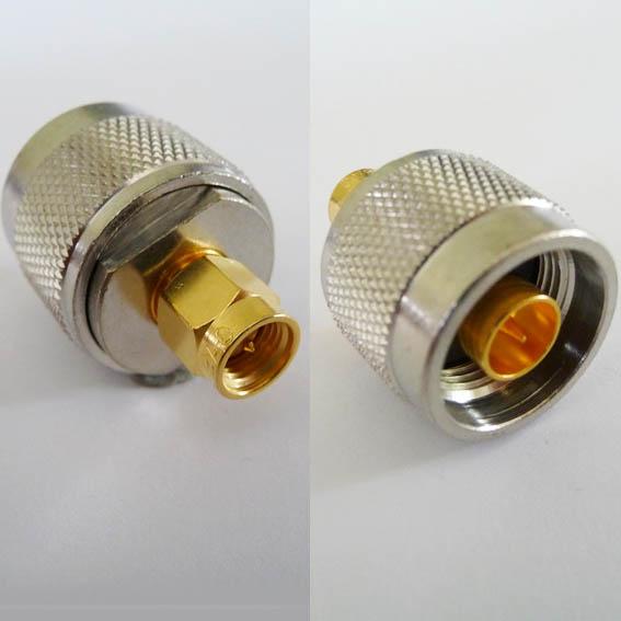 Adapter - SMA Plug (Male pin) to N Plug (Male pin)-0