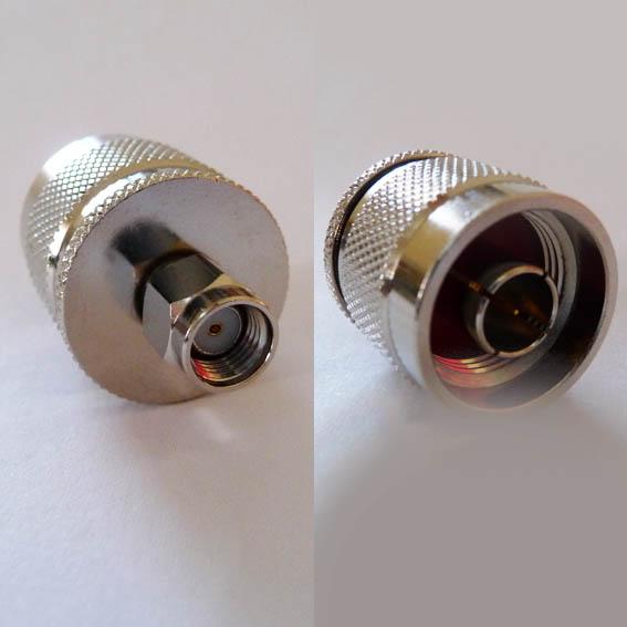 AD-A6N3, RP-SMA Plug (fem pin) - N male pin-0