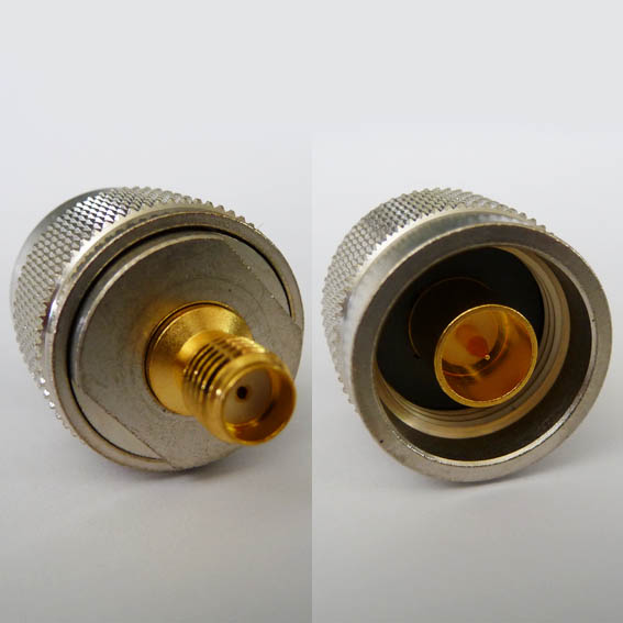 AD-A8N3, N male pin - SMA fem pin-0