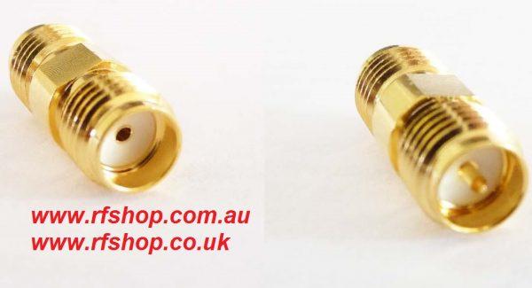 Adapter - RP SMA Jack (Male pin) to SMA Jack (Female pin) A9A8 CH-RAJ-AJ-0