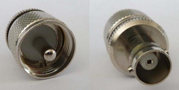 Adapter - UHF Plug (Male pin) to BNC Jack (Female pin) CH-MP-BJ-0