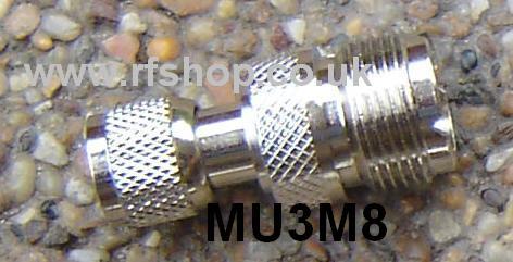 Adapter - Mini UHF Plug (Male pin) to UHF Jack (Female pin) CH-MUP-MJ-0