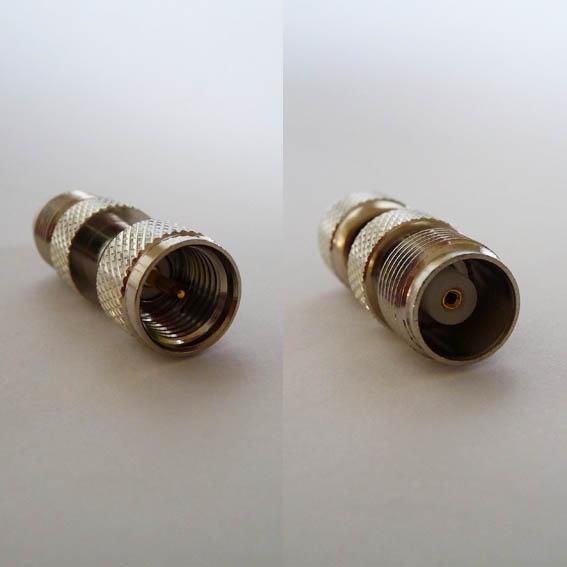 Adapter - Mini UHF Plug (Male pin) to TNC Jack (Female pin) CH-MUP-TJ-0
