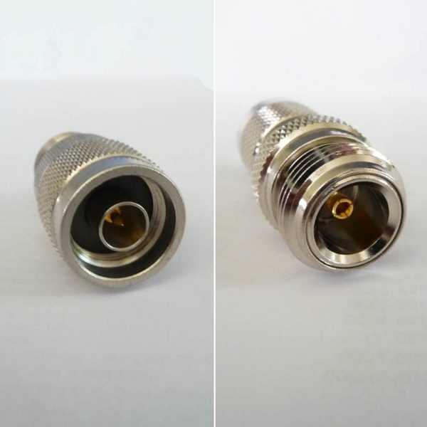 JyeBao Adapter - N Plug (Male pin) to Reverse (Left Hand) Thread N Jack (Female pin) AD-N3NR8-0