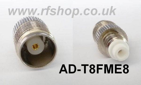 AD-T8FME8, TNC fem pin - FME male pin-0
