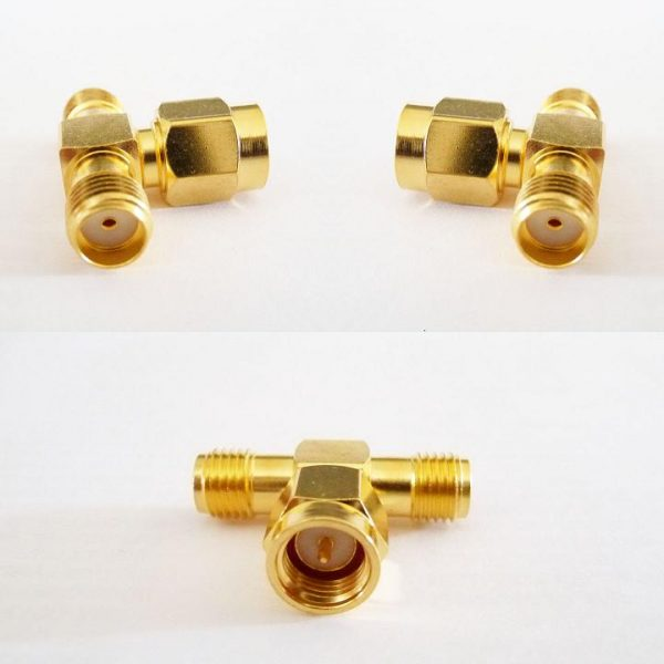 AT-A8A3A8, Adaptor SMA fem pin x 2, SMA male pin - T piece-0