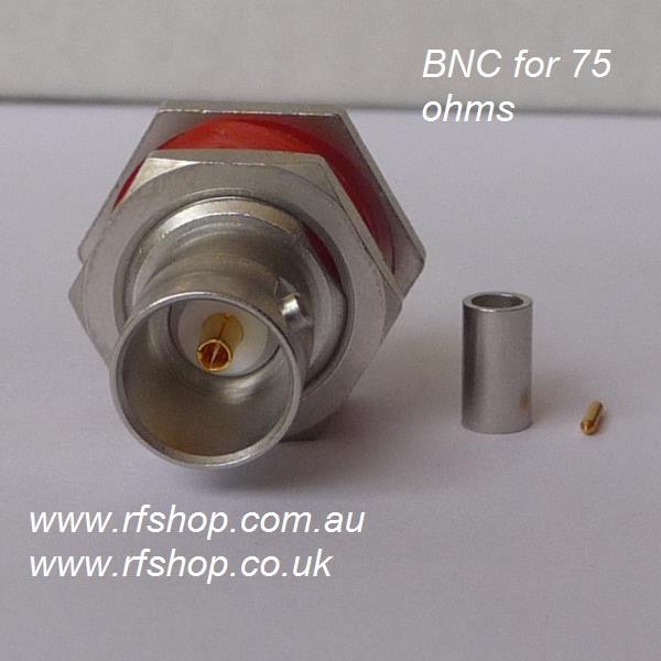 BNC8105-0059, BNC Connector, fem pin, panel fitting, 75 ohm, RG59-0