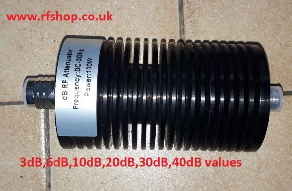 Attenuators, High Power, Coaxial, N type, 100W DC - 3GHz, 20dB CAT-100W-Nf-Nm-3G-20db-0