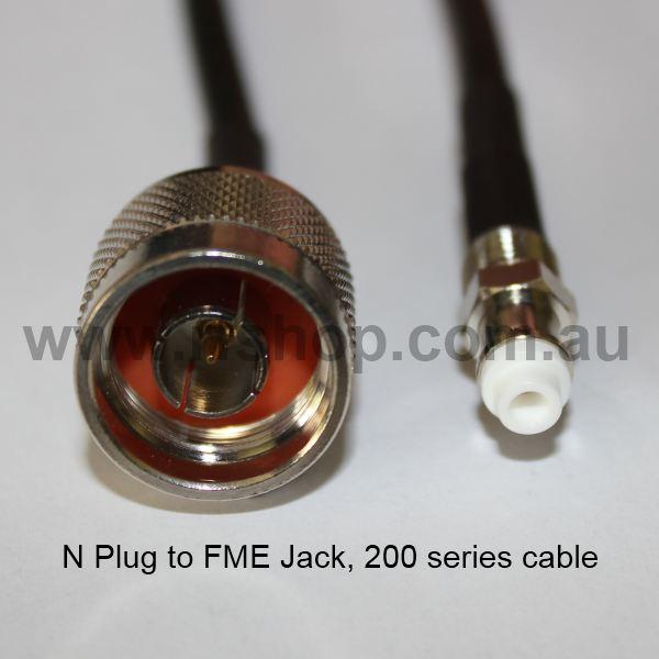 N Plug to FME Jack, 200 series cable, 2m N30FME80-200-2000-0