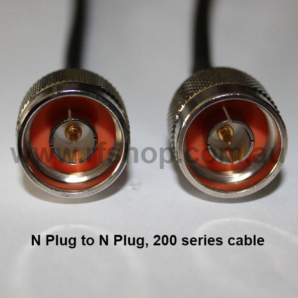 N Plug to N Plug, 200 series cable, 1.5m N30N30-200-1500-0