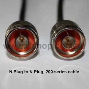 N Plug to N Plug, 200 series cable, 5m N30N30-200-5000-0