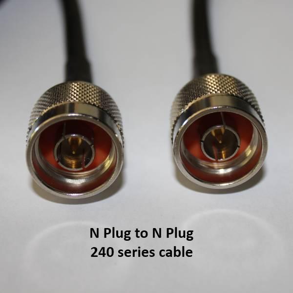 N Plug to N Plug, 240 series cable, 3m N30N30-240-3000-0
