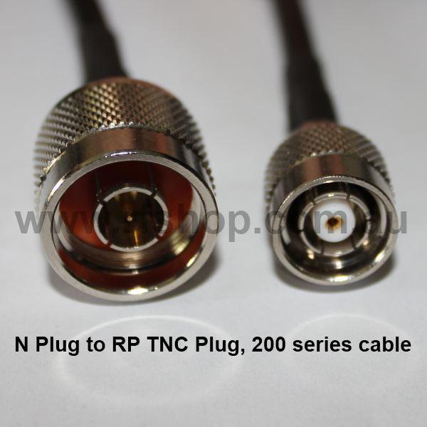 N Plug to RP TNC Plug, 200 series cable, 1.5m N30T60-200-1500-0