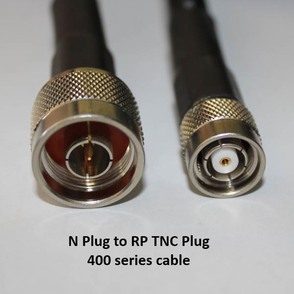 N Plug to RP TNC Plug, 400 series cable, 10m N30T60-400-10000-0