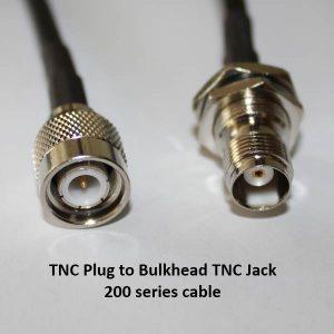TNC Plug (Male pin) to TNC Jack (Female pin), 200 series cable, 3m-0