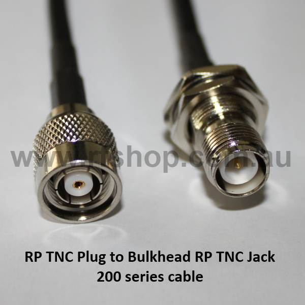 RP TNC Plug to RP TNC Jack, 200 series cable, 2m T60T95-200-2000-0